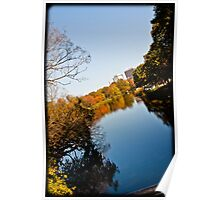 river reflection in color Poster
