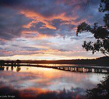 Sunset Wallaga Lake by pcbermagui
