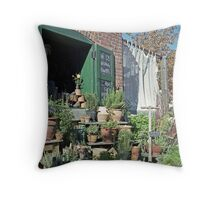 The Herb Store Throw Pillow