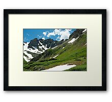 Mountains and Sky Framed Print
