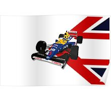 Nigel Mansell - Williams Renault FW14B Poster
