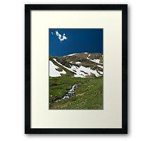 Snowmelt Stream Framed Print