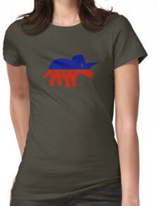 Triceratops Political Logo Womens Fitted T-Shirt