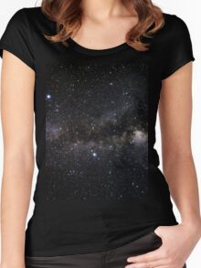 space and the universe (possibly aliens) Women's Fitted Scoop T-Shirt
