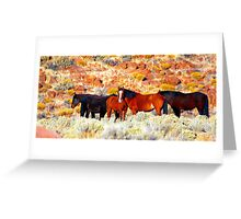 Wild Horses in Nevada Greeting Card