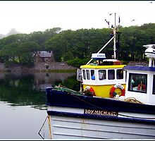 Boat at Anchor - Stornoway Marina by kathrynsgallery