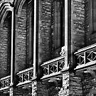 The stone buttress's of Bonython Hall Adelaide University by Nick Egglington
