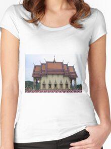 Thailand- Temple Plai Laem Women's Fitted Scoop T-Shirt