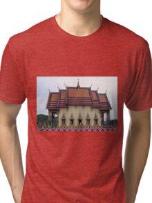 Thailand- Temple Plai Laem Tri-blend T-Shirt