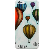 Blue Skies Illustration iPhone Case/Skin