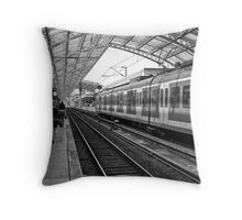 Train Station Throw Pillow