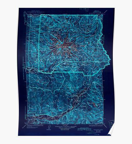 USGS Topo Map Washington State WA Mt Rainier 242674 1928 125000 Inverted Poster