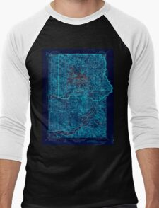 USGS Topo Map Washington State WA Mt Rainier 242674 1928 125000 Inverted Men's Baseball ¾ T-Shirt