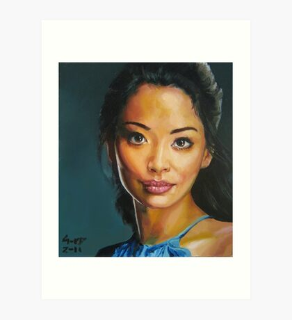 portrait piece - asian beauty Stephanie Jacobsen Art Print