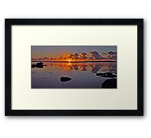 Sunrise on Tuggerah Lake. Framed Print