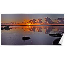 Sunrise on Tuggerah Lake. Poster