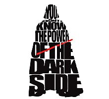 Darth Vader - You dont know the power of the dark side Photographic Print