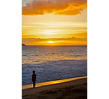 Girl by sea Photographic Print