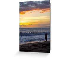 Girl by sea Greeting Card