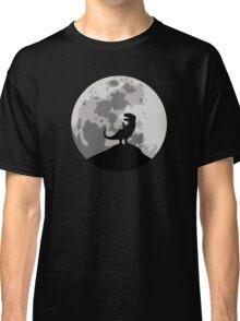Dinosaur Moon Silhouette - T-Rex Classic T-Shirt
