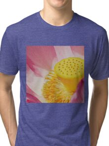 0482 Red Lotus  Tri-blend T-Shirt