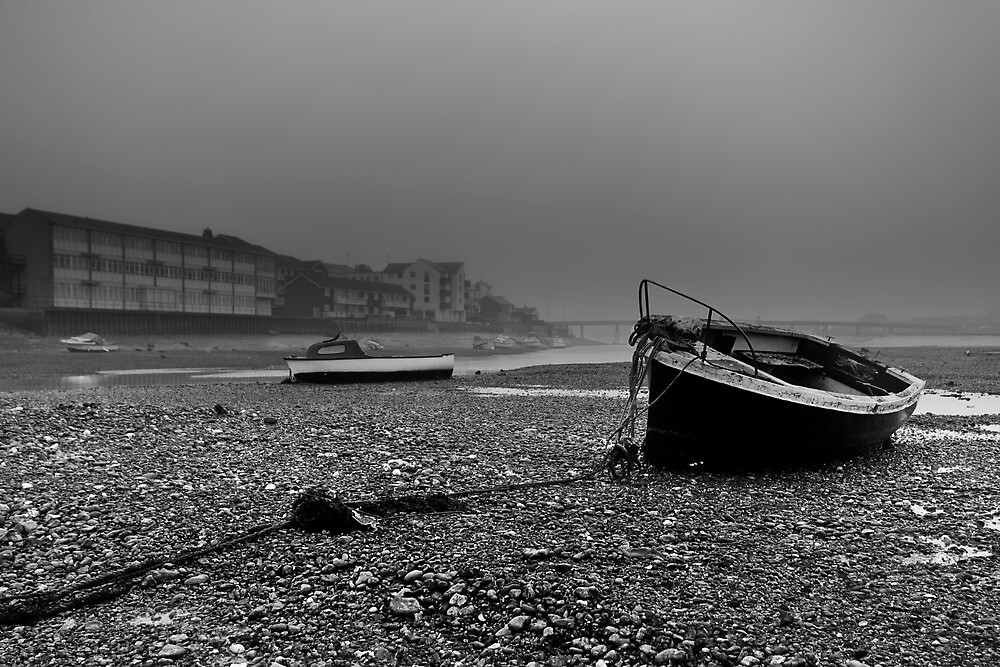 Boats In The Mist by Leon Ritchie