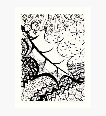 ATC Holly doodle Art Print