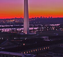 Washington Monument at Sunset  by michael6076