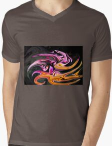 Abstract 3 Mens V-Neck T-Shirt
