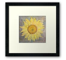 Sunflower at sea Framed Print