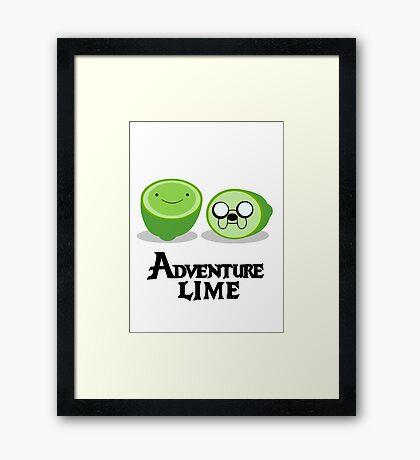 Adventure Lime Framed Print