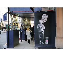 Einstein, street art, banksy, love is the answer  Photographic Print