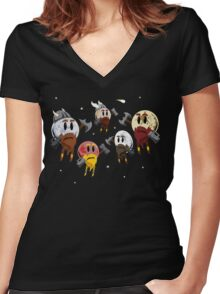 Dwarf Planets Women's Fitted V-Neck T-Shirt