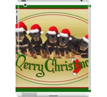Cute Merry Christmas Rottweiler Puppies iPad Case/Skin
