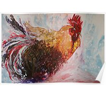 Ruffled Rooster Poster