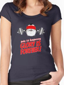 Pain Is Temporary, Glory Is Forever! v.1 Women's Fitted Scoop T-Shirt