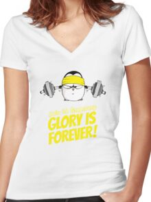 Pain Is Temporary, Glory Is Forever! v.2 Women's Fitted V-Neck T-Shirt