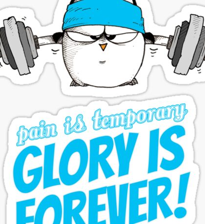 Pain Is Temporary, Glory Is Forever! v.3 Sticker