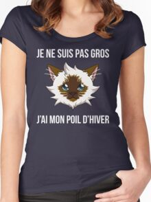 Je ne suis pas gros... (SLG Webshow) Women's Fitted Scoop T-Shirt