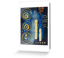 SciFi Mixed Media Art  - Portrait Format Greeting Card