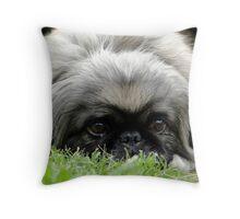 Sneak In The Grass Throw Pillow
