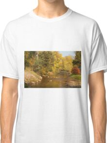 0085 Riverside in Autumn Classic T-Shirt