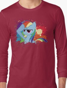 Salute to Rainbow Dash Long Sleeve T-Shirt