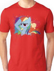 Salute to Rainbow Dash Unisex T-Shirt