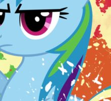 Salute to Rainbow Dash Sticker