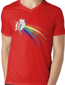 Rainbow Slash Mens V-Neck T-Shirt