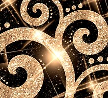 Gold Glitter Swirl by Rewards4life