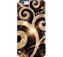 Gold Glitter Swirl iPhone Case/Skin
