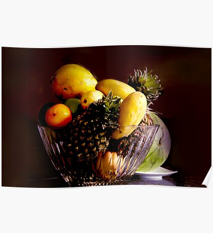 bowl of fruits Poster