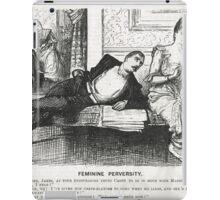 Reverse Psychology Punch Cartoon 1888 iPad Case/Skin